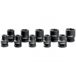 "Impact socket kit 1/2"" 10-24mm"
